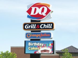 0092 Dairy Queen Bendsen Sign  Graphics W 19mm 80x176 Bloomington IL 101718 1 300x225 Cabinet Signs