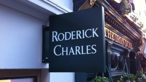 Roderick Projecting storefront outdoor Sign 300x169 Blade Signs