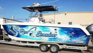 custom boat wrap graphics vinyl boat wrap 300x173 Boat Wraps