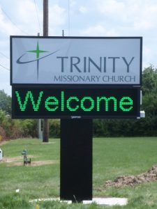 custom digital monument church sign 225x300 Promotional Signs