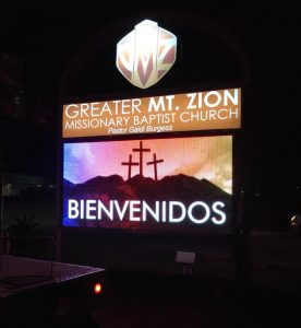 custom lighted monument digital message center e1530106590486 276x300 Digital Signs & Message Centers