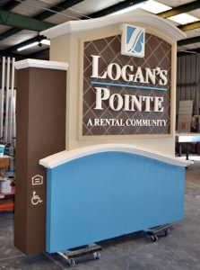 custom monument sign dimensional letters sandblasted 223x300 Sandblasted Signs
