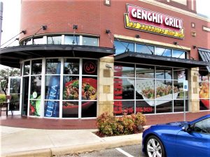 custom storefront outdoor building restaurant window vinyl channel letters 300x225 Storefront Signs