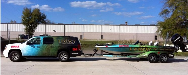 custom truck boat wrap combo Boat Wraps