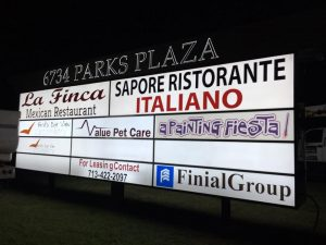 monument tenant outdoor illuminated backlit sign 300x225 Tenant Signs