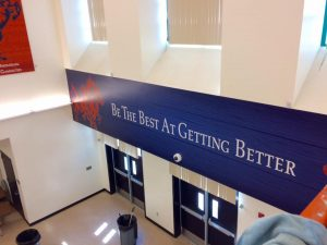 custom vinyl wall mural indoor 300x225 School Signs