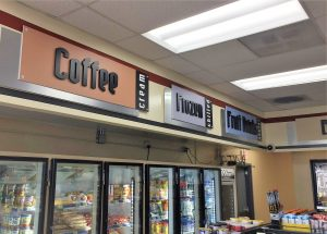 indoor retail custom dimensional letter signs 300x215 Gas Station Signs