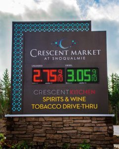 monument digital message outdoor custom 240x300 Gas Station Signs