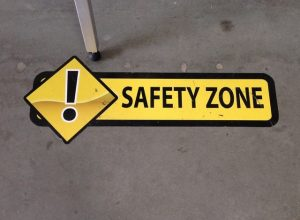 safety floor vinyl graphics 300x220 Warehouse Signs